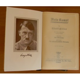 Mein Kampf 1937 by Adolf Hitler, in case.