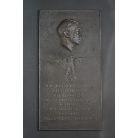 Arno Breker (1900 - 1991) - large commemorative plaque for the completion of the Reich Chancellery in 1938.