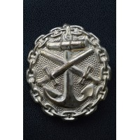 A First War Naval Wound Badge, Silver Grade.