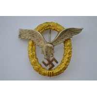 An Early Combined Pilot's & Observers Badge by Friedrich Linden, Ldenscheid.