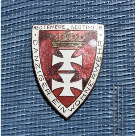A Freikorps Danzig-Shield for Faithful Service.