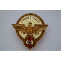 "A 1939 Victors Badge in the National Trade Competition - ""Kreissieger"""