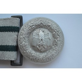 A German Army Officer's Brocade Belt and Buckle.