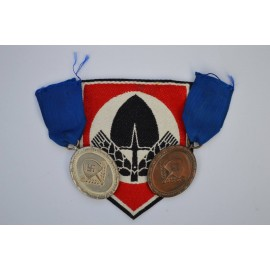 Set badges RAD silver and bronze with RAD Sports Shirt Insigia.