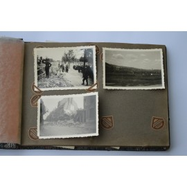 Album photos of SS soldiers, campaign in France and Belgium.