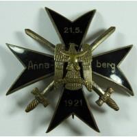 Ehrenabzeichen des Freikorps Oberland Annaberg 1921.