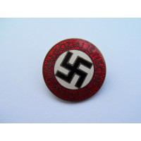 NSDAP Party Badge marked RZM M1/34 maker Karl Wurster, Markneukirchen.