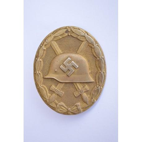 Wound Badge Gold marked L/21 By Förster & Barth, Pforzheim.