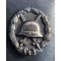 Rare Wound Badge Silver WW1 marked 925 and AWS.