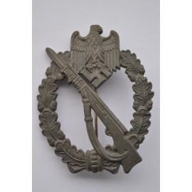 IAB Infantry Assault Badge, zinc, marked FZS maker Fritz Zimmermann, Stuttgart.