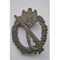 IAB Infantry Assault Badge, zinc, marked FZS maker Fritz Zimmermann, Stuttgart.
