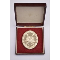 Wound Badge Silver marked 30 with case by Hauptmnzamt Wien