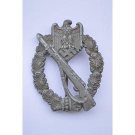 IAB Infantry Assault Badge, zinc, unmarked maker Wilhelm Deumer, Lüdenscheid.