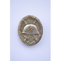 Silver Wound Badge with wide pin marked 30 by Hauptmnzamt Wien.