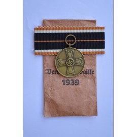 Germany. A War Merit Medal, in its Packet of Issue, by Klein & Quenzer
