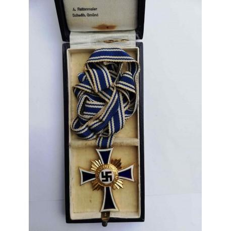 MOTHER'S CROSS GOLD in box maker Alois Rettenmaier.