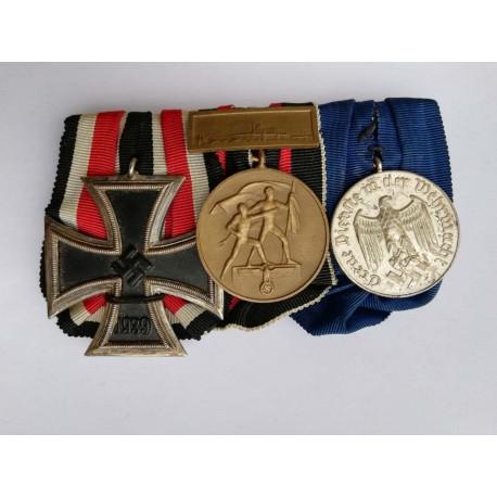 Three Medals Bar WWII