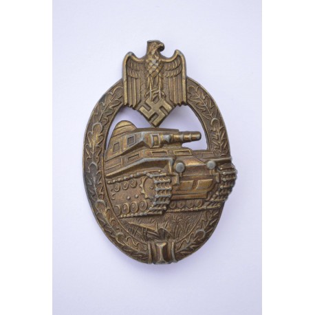 Bronze Tank Badge by Adolf Scholze