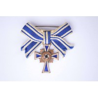 Germany. A Bronze Grade Mother's Cross, Miniature on a Ladies Ribbon