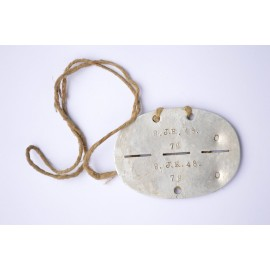 A Second War German 9th Infanterie-Regiment Identification Tag