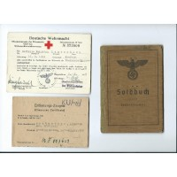 An Army Soldbuch Grenadier, Paramedic Certificate.