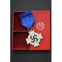 A German 25 Year Faithful Service Cross, 2nd Class, In its Original Case of Issue by Paul Meybauer.