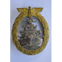 A Kriegsmarine High Seas Fleet Badge by Schwerin, Berlin.