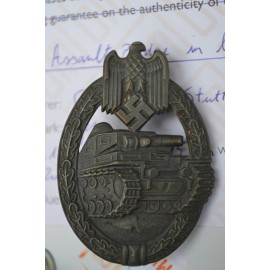 Tank Badge - Bronze Grade maker marked Frank & Reif Stuttgart.