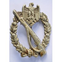HOLLOW EARLY INFANTRY ASSAULT BADGE IN SILVER BY C.E. JUNCKER