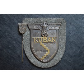 Army Issued Kuban Shield and miniature stickpin.