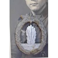 Minesweeper War Badge - Zinc marked R.K.