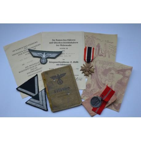 GROUP OF AWARDS TO AN GEFREINTEN Erich Weller Brückenbau - Batl. 683.