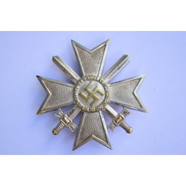 A War Merit Cross First Class with Swords, tombac, double marked L/15 maker Otto Schickle, Pforzheim