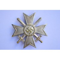 Germany, Wehrmacht. A War Merit Cross First Class with Swords, tombac, double marked L/15 maker Otto Schickle, Pforzheim