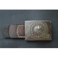A German Army (Heer) Enlisted Man's Belt Buckle by Berg & Nolte 1943.