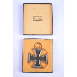 A Cased LDO with Iron Cross Second Class maker E. Ferdinand Wiedmann, Frankfurt am Main