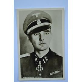 KC Winner Postcard - Waffen SS Sturmbannfuhrer Christian Bachmann.