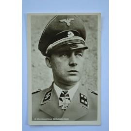 KC Winner Postcard - Waffen SS Sturmbannfuhrer Karl Schlamelcher.