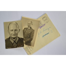 Photos and Letter after Generalmajor Max Fremerey.