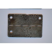 Two Dog Tag FRONTSTALAG 240 (Verdun).