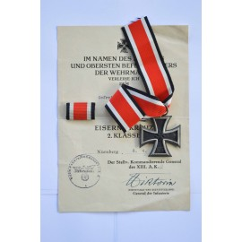 Set Iron Cross after Gefreiten Karl Hedler 4./Gr.Rgt. 289.