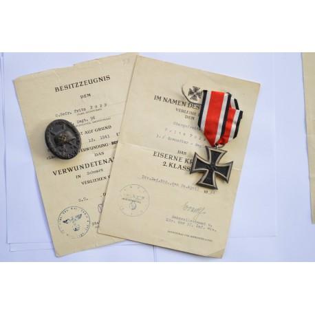 Set Awards after Oberefreiten Fritz Popp 3./Grenadier Regiment. 96.