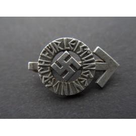 HJ Proficiency Badge miniature marked RZM M1/72 maker Fritz Zimmermann, Stuttgart.