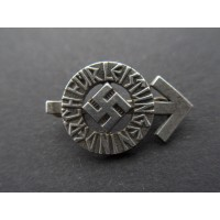 HJ Proficiency Badge miniature marked RZM M1/72 maker Fritz Zimmermann, Stuttgart.