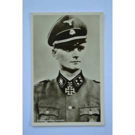 KC Winner Postcard - Waffen SS Sturmbannführer Heinz Werner.
