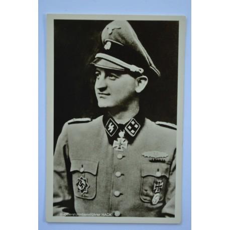 KC Winner Postcard - Waffen SS Obersturmbannführer Franz Hack.