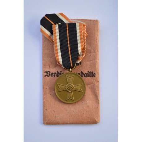 Germany. A War Merit Medal, in its Packet of Issue, by Walter & Henlein, Gablonz
