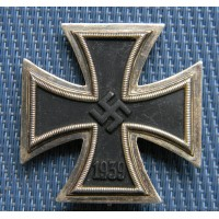 Iron Cross First Class 1939 unmarked maker E. Ferdinand Wiedmann, Frankfurt am Main.