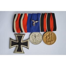 A Luftwaffe Long Service & Iron Cross Medal Bar