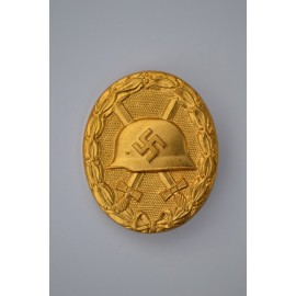 GOLD WOUND BADGE MAKER DESCHLER / WIEDMANN.